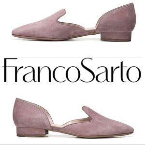 Franco Sarto Scarletta Suede Flats 8.5 Blush Pink